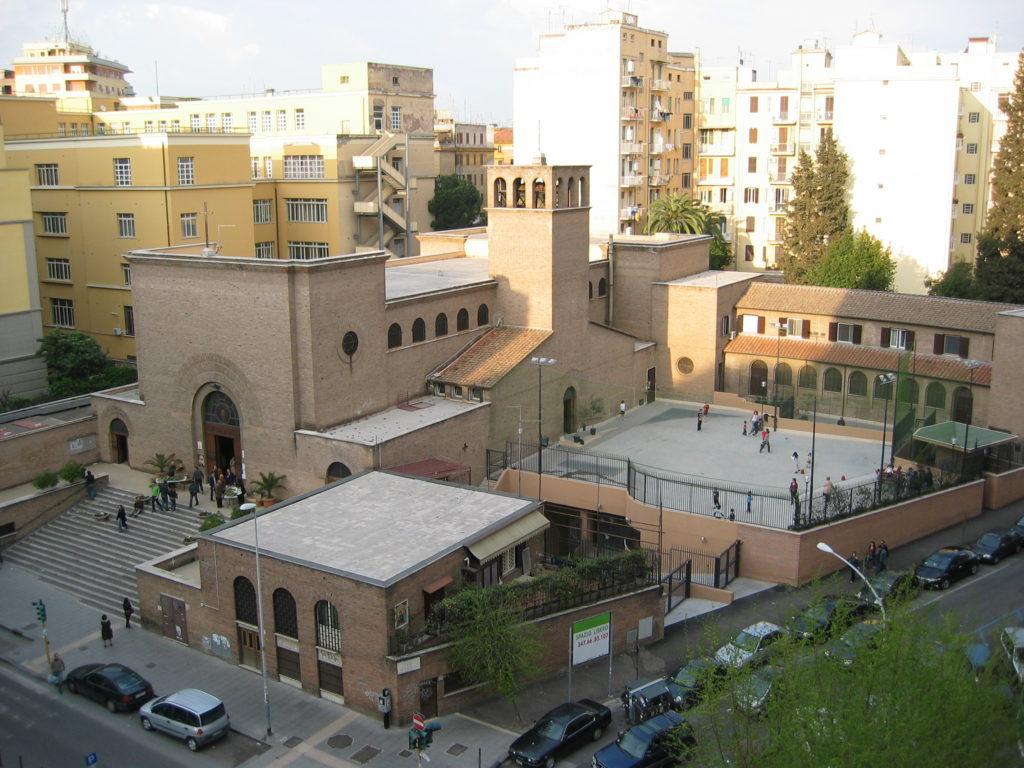 Vista dall'alto della Parrocchia di Sant'Ippolito